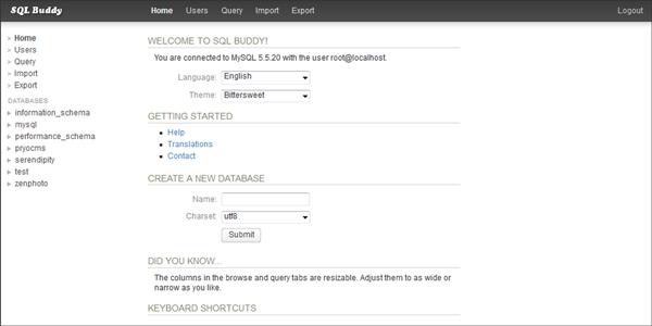 SQL Buddy asustor NAS App