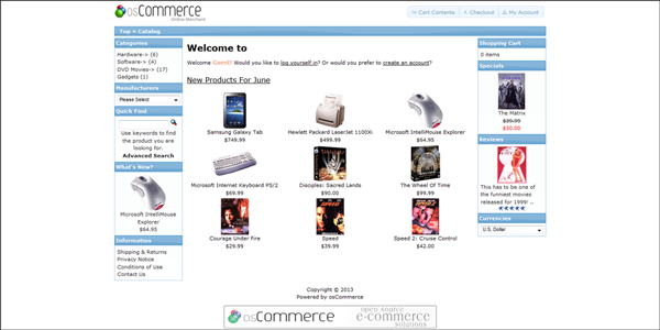 osCommerce asustor NAS App