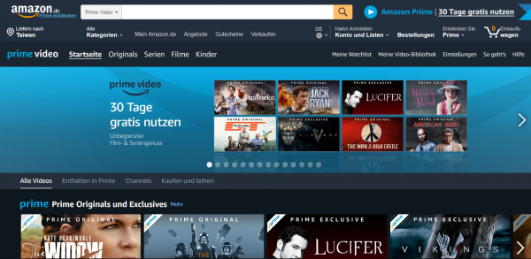 Amazon Prime Germany asustor NAS App
