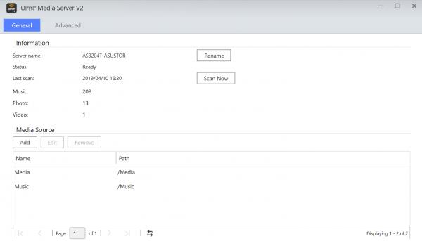UPnP Media Server V2 asustor NAS App