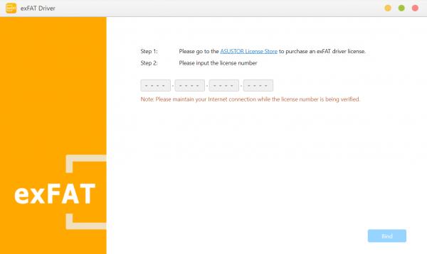 exFAT Driver asustor NAS App