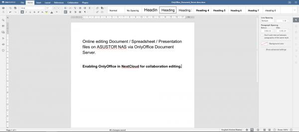 OnlyOffice 文档服务器-中国 asustor NAS App
