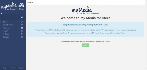 My Media for Alexa asustor NAS App