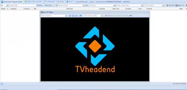 Tvheadend asustor NAS App