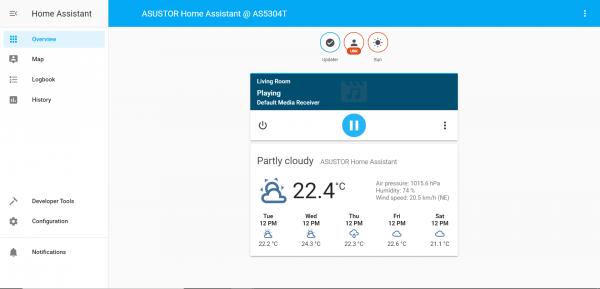 Home Assistant asustor NAS App