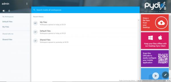 Pydio 8 asustor NAS App