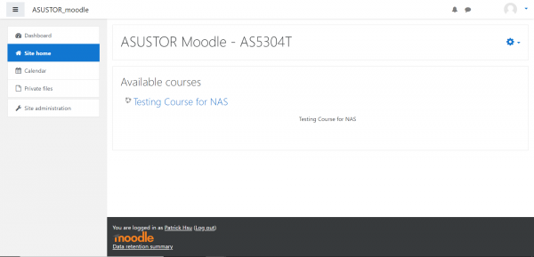 Moodle 3 asustor NAS App