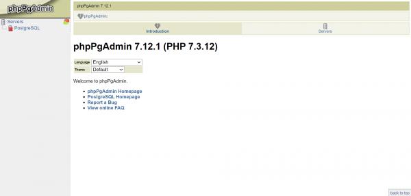 phpPgAdmin asustor NAS App