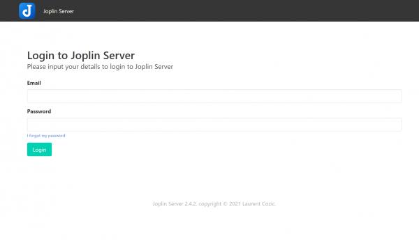Joplin Server asustor NAS App